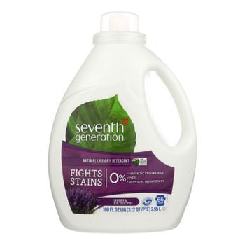 Seventh Generation Natural Laundry Detergent - Blue Eucalyptus And Lavender - Case Of 4 - 100 Fl Oz.