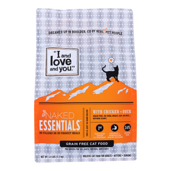 I And Love And You - Cat Kibble Chicken And Duck - Case Of 4-3.4 Lb