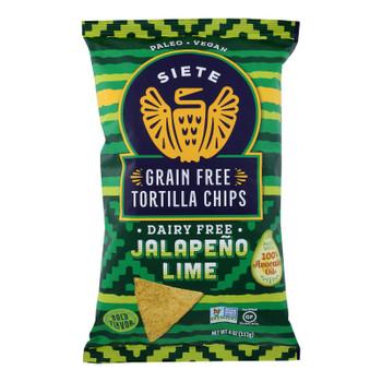 Siete - Tortilla Chip Jalapeno Lime - Case Of 6-4 Oz