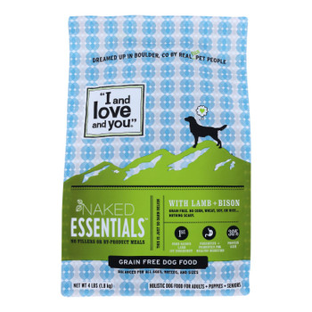 I And Love And You - Dog Kibble Lamb And Bison - Case Of 4-4 Lb