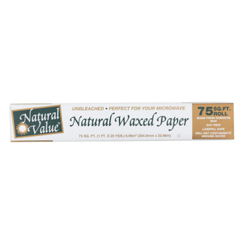 Natural Value - Waxed Paper - Case Of 12-75 Ft
