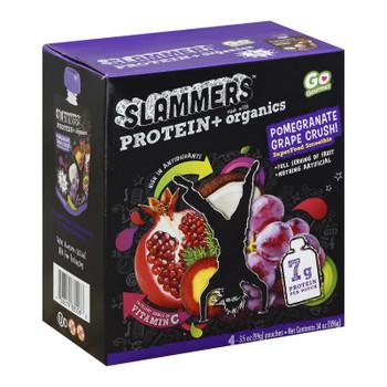 Slammers - Snack Crush Pomegranite Grape - Case Of 4-3.5 Oz