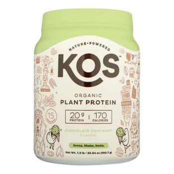 Kos - Plant Protein Chocolate Chip Mint - 1 Each - 20.84 Oz
