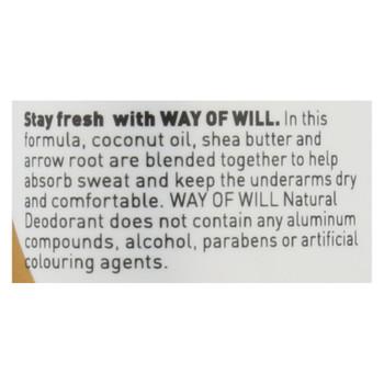 Way Of Will - Deodorant 02 Natural Vanilla+mnt - 1 Each 1-2.65 Oz