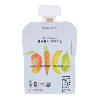 White Leaf Provisions - Baby Food Mango Crt Pr Bn - Case Of 6 - 3.17 Oz