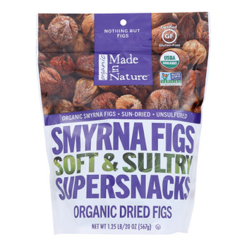 Made In Nature - Smyrna Figs Dried - Case Of 6-20 Oz
