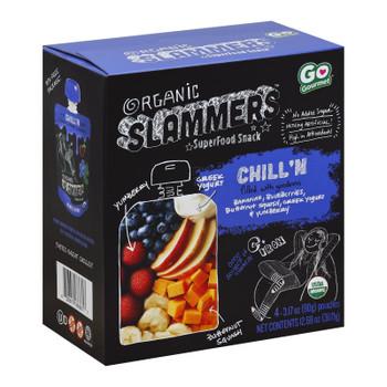 Slammers - Snack Chill'n Banana & Blueberry - Case Of 4-3.17 Oz