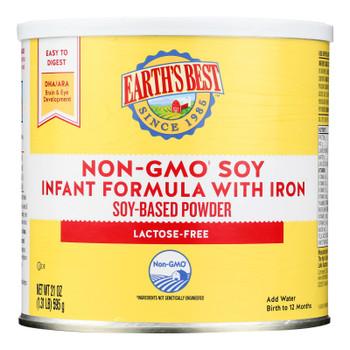 Earth's Best - Infant Formula Soy w/Iron - Case Of 4-21 Oz