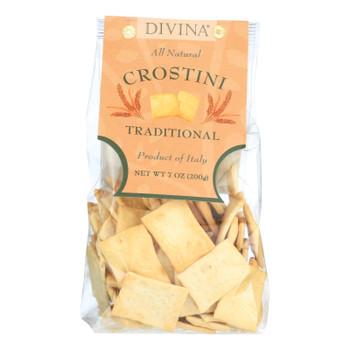 Divina Crostini Traditional - Case Of 12 - 7.1 Oz