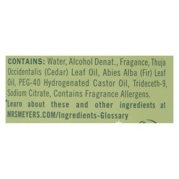 Mrs.meyers Clean Day - Room Freshener Iowa Pine - Case Of 6 - 8 Oz