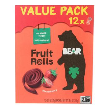 Bear - Fruit Rolls Strawberry 12pk - Case Of 5-8.5 Oz