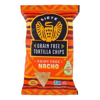 Siete - Tortilla Chips Nacho - Case Of 6-4 Oz