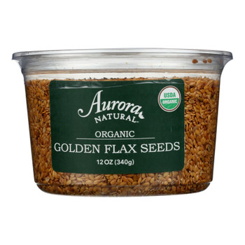 Aurora Natural - Flax Seed Organic Golden - Case Of 12-12 Oz