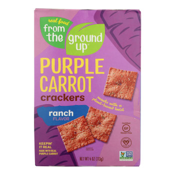 From The Ground Up Ranch Purple Carrot Crackers - Case Of 6 - 4 Oz