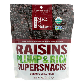 Made In Nature Raisins Organic Dried Fruit - Case Of 6 - 9 Oz