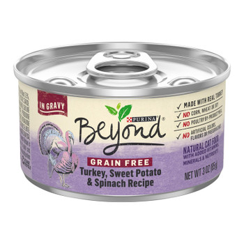 Beyond Purina - Cat Food Can Turkey Pot Spin - Case Of 12-3 Oz