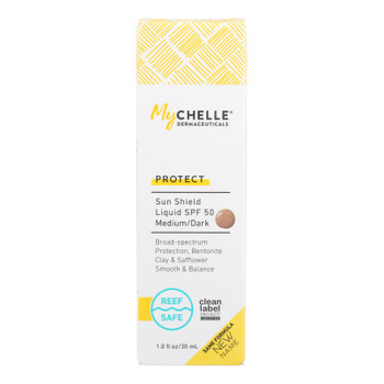 Mychelle Dermaceuticals - Sun Shield Spf 50 Ntrl Tan - 1 Each 1-1 Oz