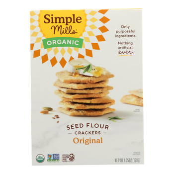 Simple Mills - Crackers Seed Flavor Original - Case Of 6-4.25 Oz