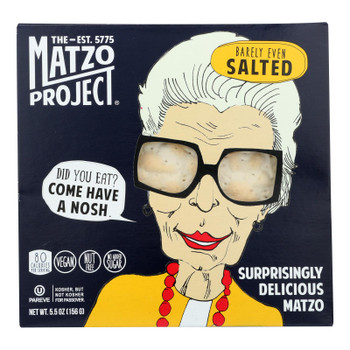 The Matzo Project Llc - Cracker Matzo Salted - Case Of 8-5.5 Oz