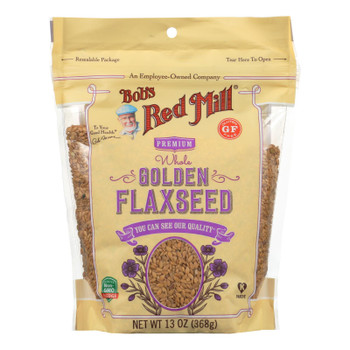 Bob's Red Mill - Flaxseeds Golden Gluten Free - Case Of 4-13 Oz