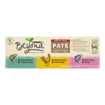 Beyond Purina - Cat Food Can 3 Flv Vrty Pack - Case Of 4-6/3 Oz