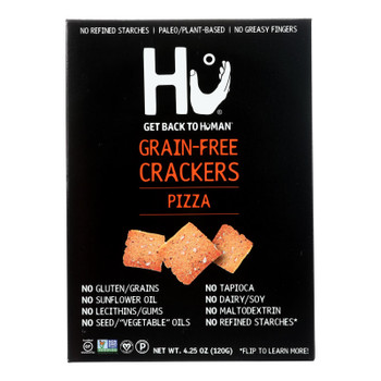 Hu - Crackers Pizza Grain Free - Case Of 6-4.25 Oz