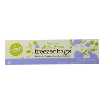 Natural Value - Storage Bags Gallon Frzr - Case Of 12 - 10 Ct