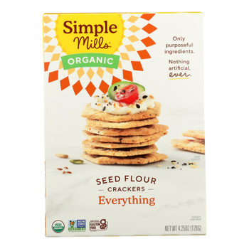 Simple Mills - Crackers Seed Flavor Everything - Case Of 6-4.25 Oz