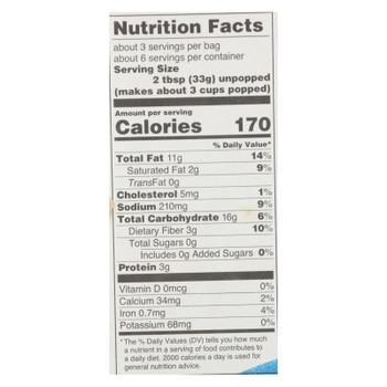 Quinn Snacks White Cheddar & Sea Salt Microwave Popcorn - Case Of 6 - 7 Oz