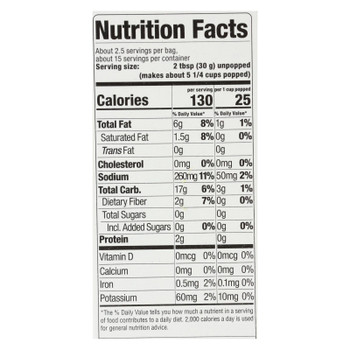 Skinnypop Popcorn - Popcorn Mirco Sea Salt - Case Of 6 - 6/2.8 Oz