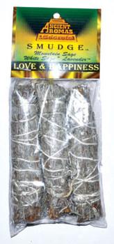 "Love & Happiness Smudge Stick 3pk 4"""