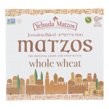 Yehuda - Matzo Thins Daily Whole Wheat - Case Of 12 - 10.5 Oz
