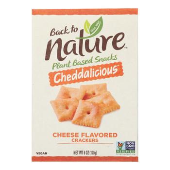 Back To Nature - Cracker Cheddalicious - Case Of 6-6 Oz
