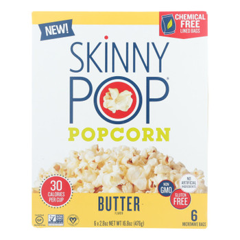 Skinnypop Popcorn - Popcorn Micro Butter - Case Of 6 - 6/2.8 Oz