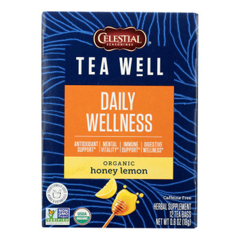 Teawell - Tea Honey Lemon - Case Of 6-12 Ct