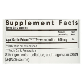 Kyolic - Aged Garlic Extract Vegetarian Cardiovascular Formula 100 - 100 Vegetarian Capsules