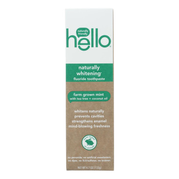 Hello Products Llc - Toothpaste Natural Whitening Fluoride - Case Of 6-4.7 Oz