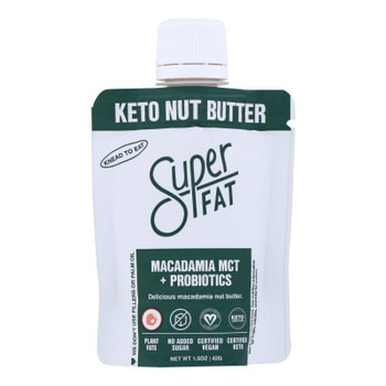 Superfat - Nut Butter Macad Mct & Probiotic- Case Of 10 - 1.5 Oz