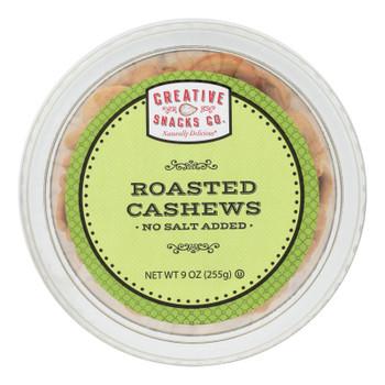 Creative Snacks - Cashews Roasted No Salt - Case Of 12 - 9 Oz