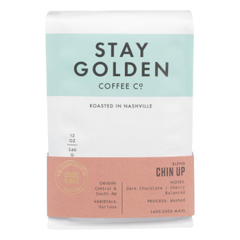 Stay Golden Coffee Co. - Coffee Med Roast Chin Up - Cs Of 6-12 Oz