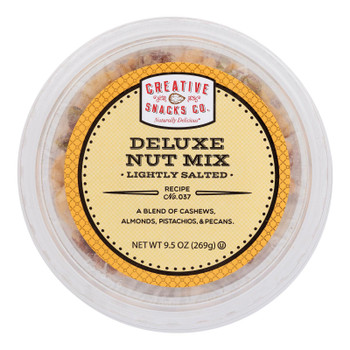 Creative Snacks - Mix Nut Deluxe Salted Roasted - Case Of 12 - 9.5 Oz