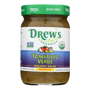 Drew's Organics Salsa, Tomatillo Verde  - Case Of 6 - 12 Oz