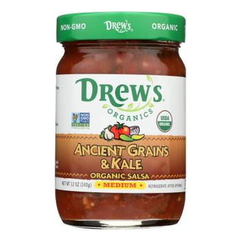 Drew's Organics Salsa, Ancient Grains & Kale  - Case Of 6 - 12 Oz