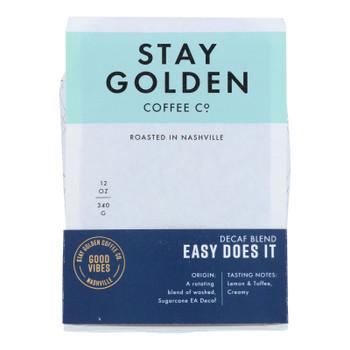 Stay Golden Coffee Co. - Coffee Medium Roast Decaf Easy Ds - Cs Of 6-12 Oz