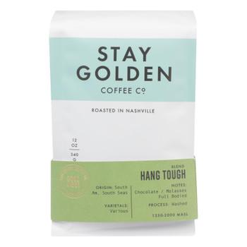Stay Golden Coffee Co. - Coffee Dark Roast Hang Tough - Cs Of 6-12 Oz