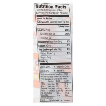 Ocho Organic Candy Bar In Peanut Butter Flavor  - Case Of 12 - 3.5 Oz