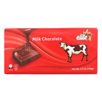 Elite - Bar Milk Chocolate - Case Of 12 - 3.5 Oz