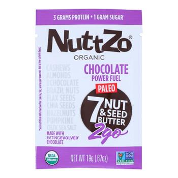 Nuttzo - Power Fuel Chocolate 2go - Case Of 10 - 0.67 Oz