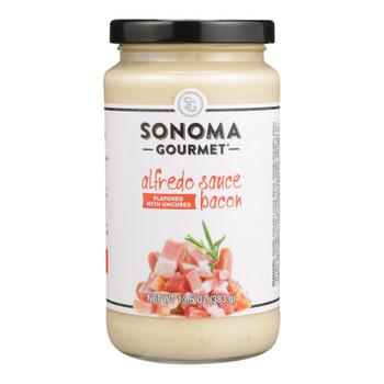 Sonoma Gourmet - Pasta Sauce Bacon Alfredo - Case Of 6-15.5 Oz