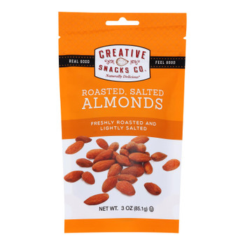 Creative Snacks - Almonds Rs - Case Of 6 - 3 Oz